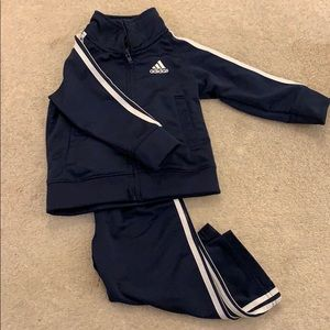 Navy blue Addis's marching outfit